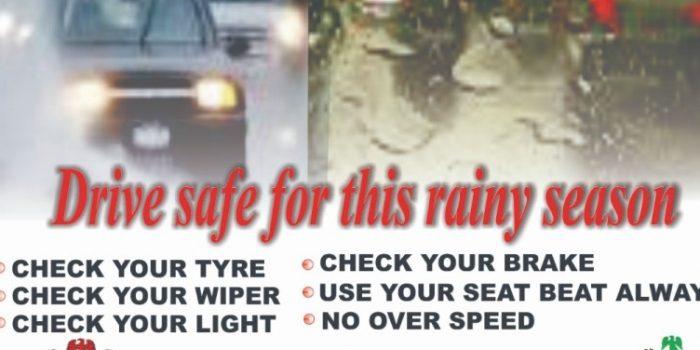 Drive Safe For This Rainy Season